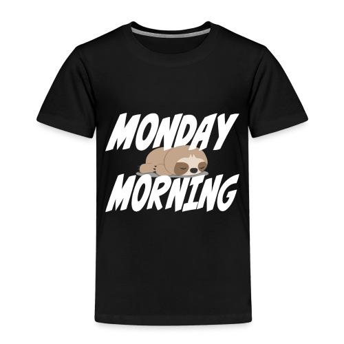 Montag Morgen Müdigkeit Wochenende ist vorbei - Kinder Premium T-Shirt