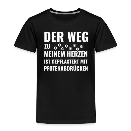Weg Zum Herz Pfotenabdrücke Hund Katze Geschenk - Kinder Premium T-Shirt