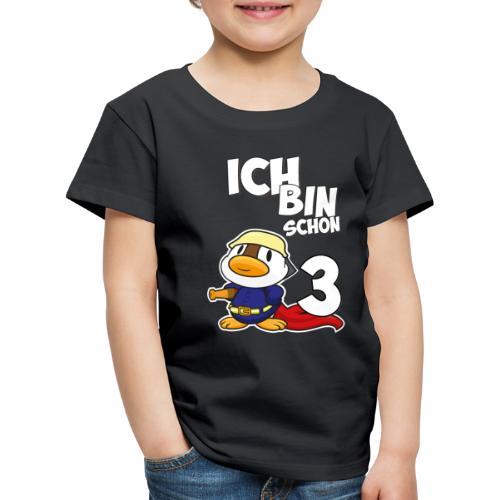 Stolze Feuerwehr Ente 3. Geburtstag Jungen Mädchen - Kinder Premium T-Shirt