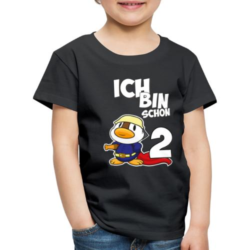 Stolze Feuerwehr Ente 2. Geburtstag Jungen Mädchen - Kinder Premium T-Shirt