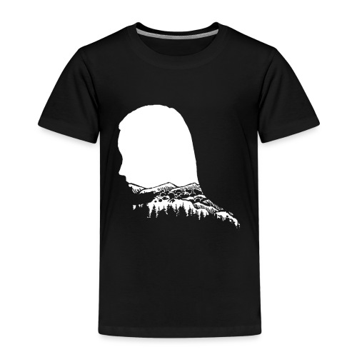 Berge Berg Gebirge Wandern Frau Wanderer - Kinder Premium T-Shirt