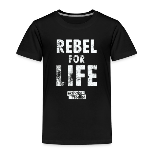 extinction rebellion just rebel - Kinder Premium T-Shirt