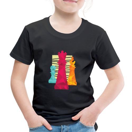 Schach Figuren Bauer König Läufer - Kinder Premium T-Shirt