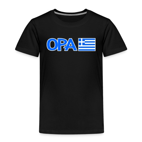 Greek Opa. Greek Flag. Cool Greek Vacation - Kinder Premium T-Shirt