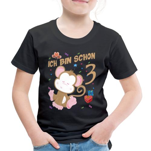 Kinder Affen Geburtstagsshirt 3 Jahre - Kinder Premium T-Shirt
