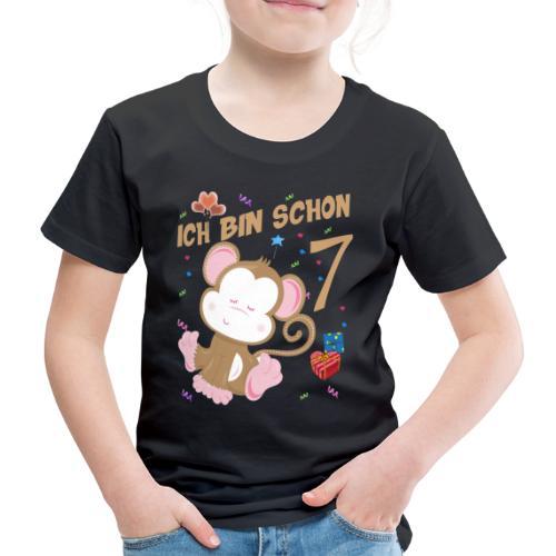 Kinder Affen Geburtstagsshirt - Geburstag 7 Jahre - Kinder Premium T-Shirt