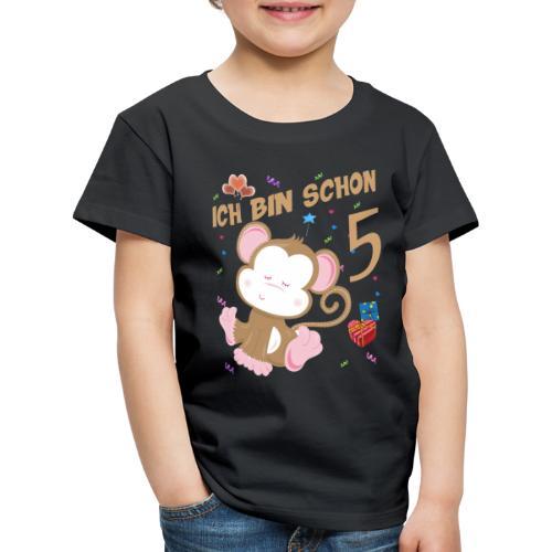 Kinder Affen Geburtstagsshirt – Geburstag 5 Jahre - Kinder Premium T-Shirt