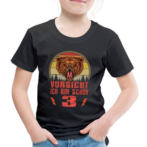 Bären Geburtstagsshirt - 3 Jahre Geburstag Junge - Kinder Premium T-Shirt