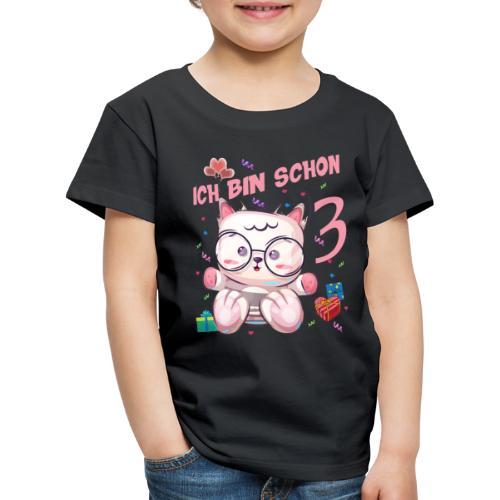 Katzen Geburtstagsshirt – Geburstag 3 Jahre - Kinder Premium T-Shirt