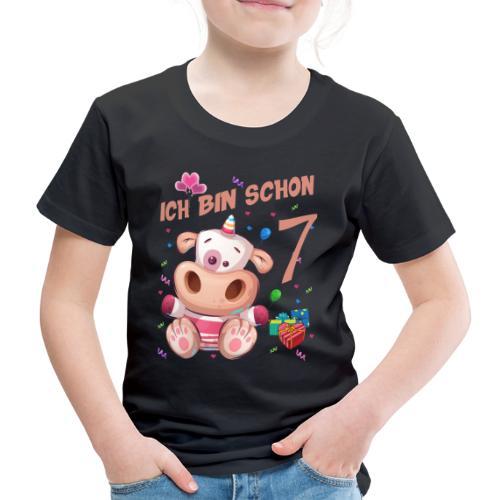 Kuh Geburtstagsshirt – Ich bin schon 7 Jahre - Kinder Premium T-Shirt