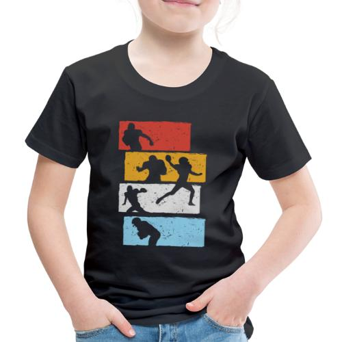 retro streifen football spieler - Kinder Premium T-Shirt