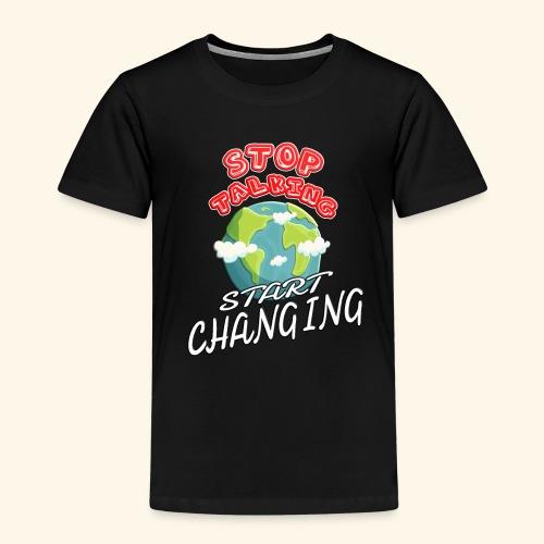 Klimaschutz Klimaerwärmung friday for future Demo - Kinder Premium T-Shirt