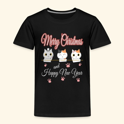 Cat Cats Katze Katzen Weihnachten Merry Christmas - Kinder Premium T-Shirt