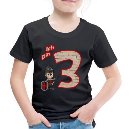 Geburtstagsshirt Ritter - Geburtstag 3 Jahre Junge - Kinder Premium T-Shirt