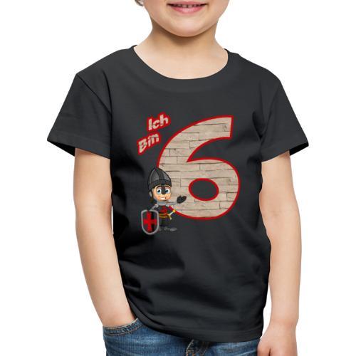 Geburtstagsshirt Ritter - Geburtstag 6 Jahre Junge - Kinder Premium T-Shirt