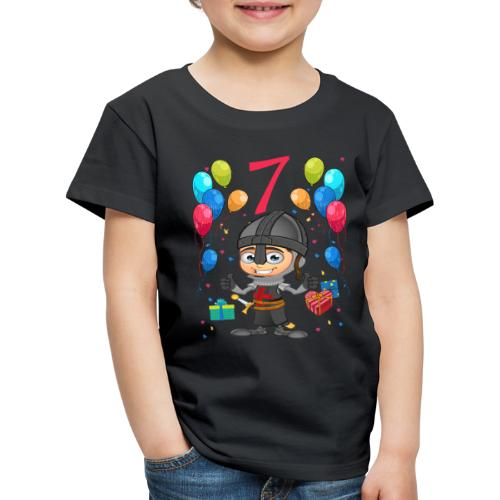 Ritter Kinder Geburtstag Geschenk 7 Jahre - Kinder Premium T-Shirt