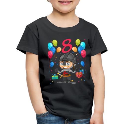 Ritter Kinder Geburtstag Geschenk 8 Jahre - Kinder Premium T-Shirt
