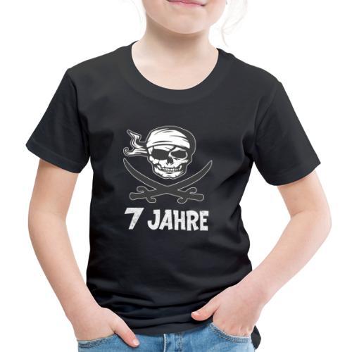 Totenkopf Pirat Geburtstagsshirt 7 Jahre Junge - Kinder Premium T-Shirt