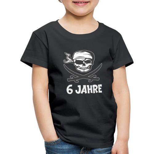 Pirat Geburtstagsshirt 6 Jahre Junge - Kinder Premium T-Shirt