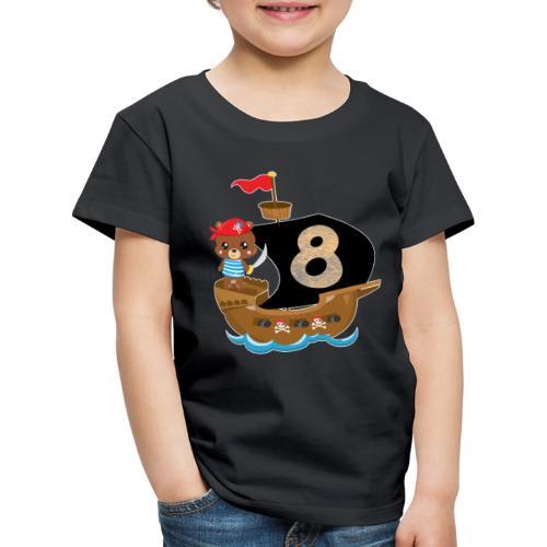 Geburtstag 8 Jahre Piraten Geschenk - Kinder Premium T-Shirt