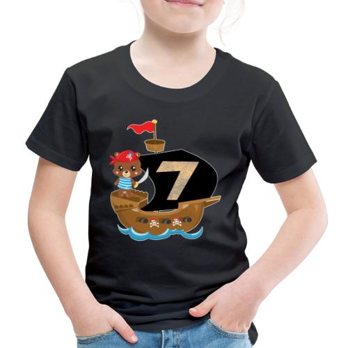 Geburtstag 7 Jahre Piraten Geschenk - Kinder Premium T-Shirt