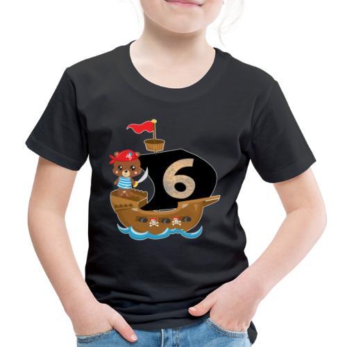 Geburtstag 6 Jahre Pirat Geburtstagsshirt Geschenk - Kinder Premium T-Shirt