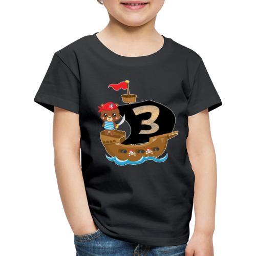 Geburtstag 3 Jahre Pirat Geburtstagsshirt Geschenk - Kinder Premium T-Shirt