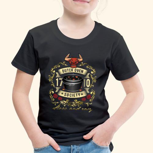 Grill-T-Shirt Dutch Oven Society - Geschenkidee! - Kinder Premium T-Shirt