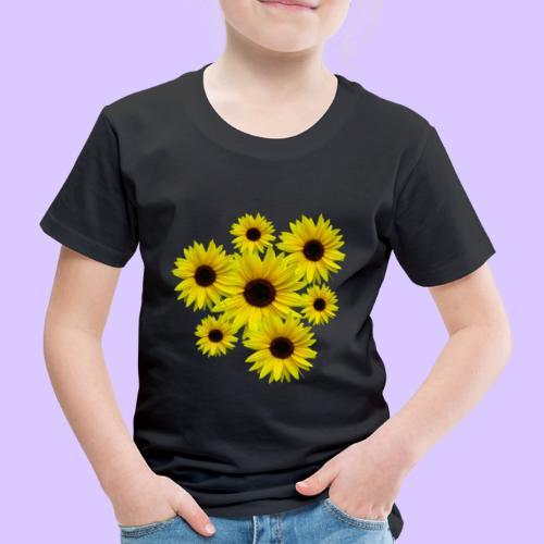 Sonnenblumenstrauß, Sonnenblumen, Blumen, Blüten - Kinder Premium T-Shirt