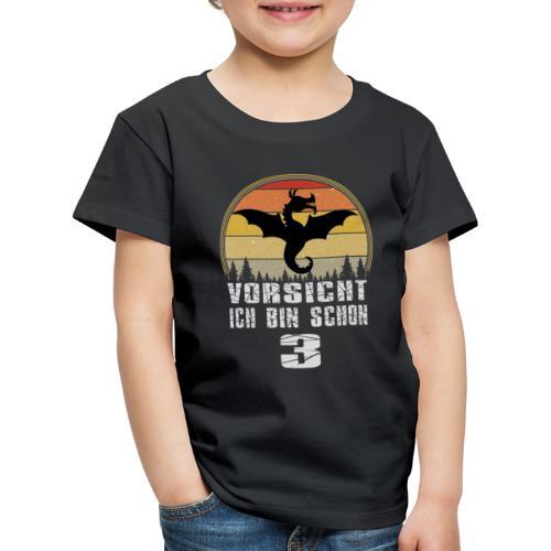 Drache Geburtstagsshirt - Geburtstag 3 Jahre - Kinder Premium T-Shirt