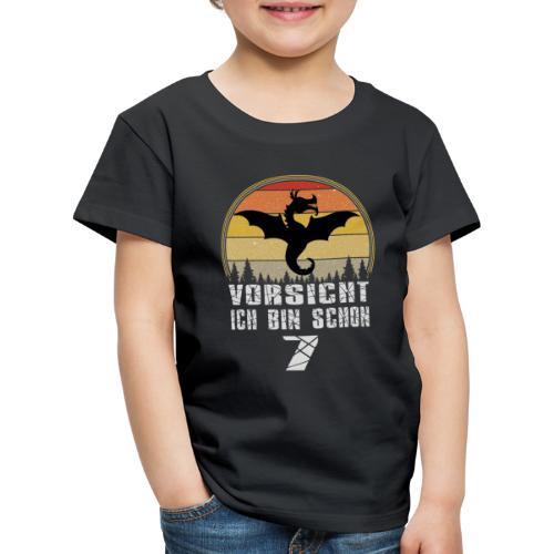 Drache Geburtstagsshirt - Geburtstag 7 Jahre - Kinder Premium T-Shirt
