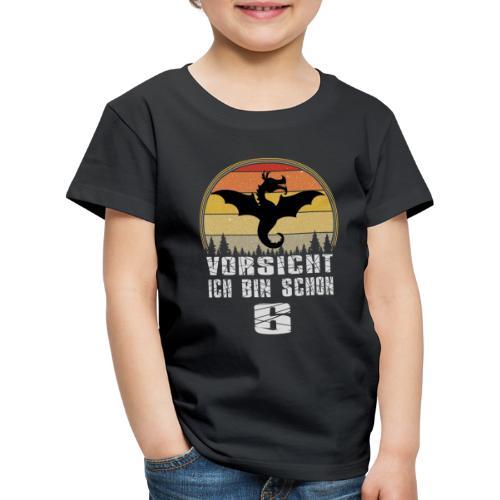 Drache Geburtstagsshirt - Geburtstag 6 Jahre - Kinder Premium T-Shirt