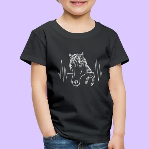 Pferd Pferde Tier Tiere Herzschlag Hufeisen Reiter - Kinder Premium T-Shirt
