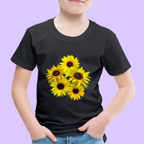 Sonnenblumenstrauss, Sonnenblume, Sonnenblumen - Kinder Premium T-Shirt