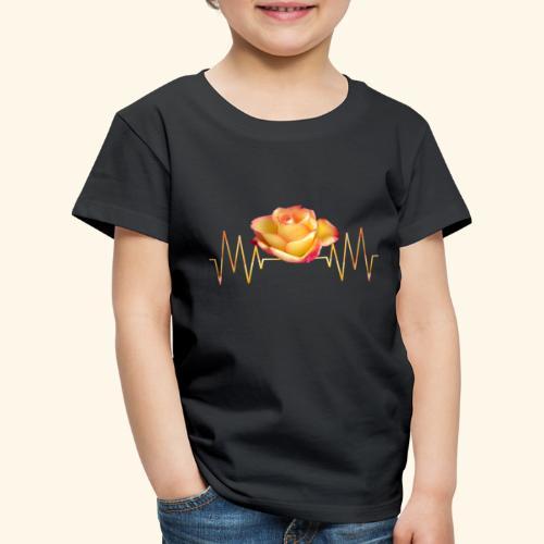 Rose, Herzschlag, Rosen, Blume, Herz, Frequenz - Kinder Premium T-Shirt