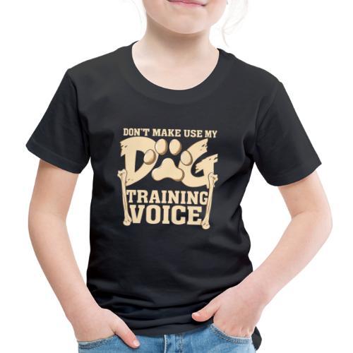 Für Hundetrainer oder Manager Trainings-Stimme - Kinder Premium T-Shirt