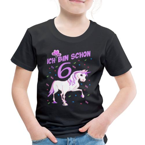 Pferde Geburtstagsshirt für Mädchen 6 Jahre - Kinder Premium T-Shirt