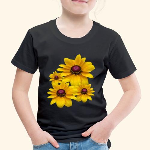 gelb blühende Sonnenhut Blumen, Blüten, floral, - Kinder Premium T-Shirt