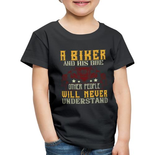 A biker and his bike. - Kids' Premium T-Shirt