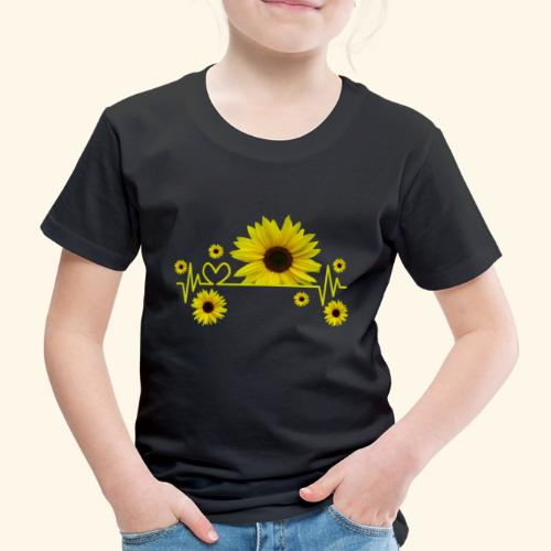 Sonnenblumen, Sonnenblume, Herzschlag, Herz, Blume - Kinder Premium T-Shirt