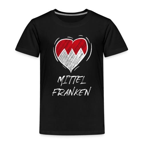Mittelfranken - Frankenwappen Love Wappen Franken - Kinder Premium T-Shirt