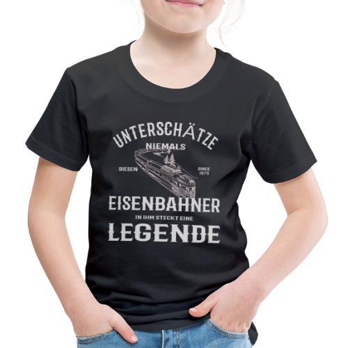 Unterschätze nie einen Eisenbahner. Legende 1973 - Kinder Premium T-Shirt
