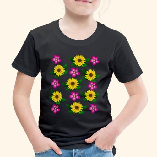 Sonnenblumen, pinke Blumen, floral, Blüten, pink - Kinder Premium T-Shirt