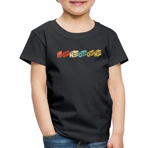Retro London Souvenir - Vintage London - Kinder Premium T-Shirt