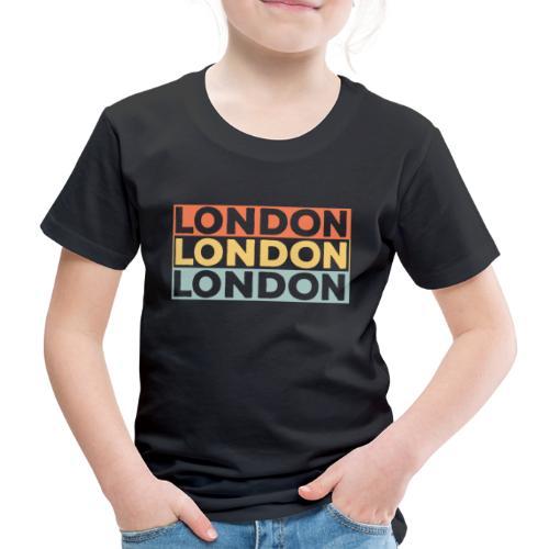 Vintage London Souvenir - Retro Streifen London - Kinder Premium T-Shirt