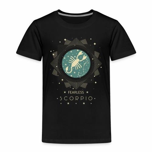 Sternzeichen Furchtloser Skorpion Oktober November - Kinder Premium T-Shirt