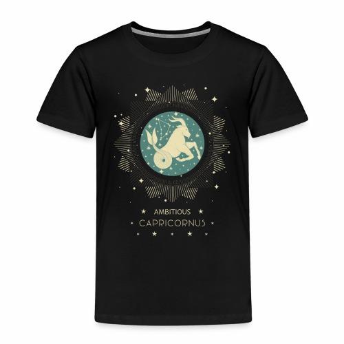 Sternzeichen Ehrgeiziger Steinbock Dezember Januar - Kinder Premium T-Shirt
