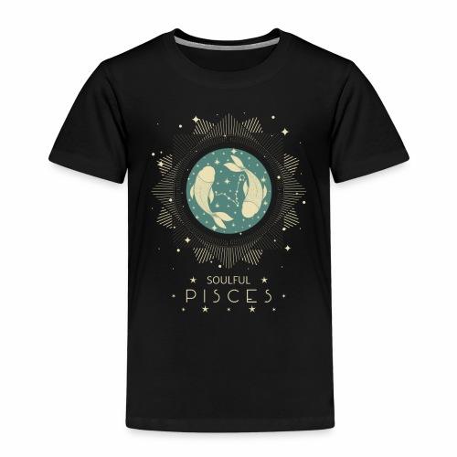 Sternzeichen Pisces Seelvolle Fische Februar März - Kinder Premium T-Shirt