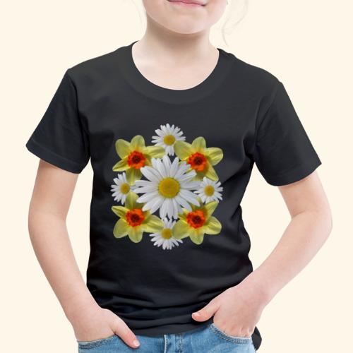 Narzissen Margeriten Osterglocken Blumen Blüten - Kinder Premium T-Shirt