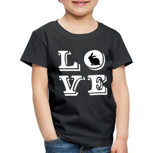 Love Osterhase | Frohe Ostern | Häschen Kaninchen - Kinder Premium T-Shirt
